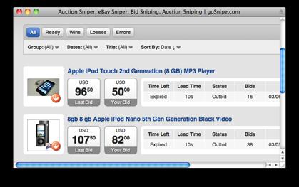 Gosnipe Auction Sniper Ebay Sniper Bid Sniping Auction Sniping